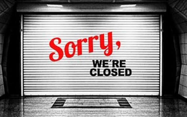 zaterdag 26 september gesloten