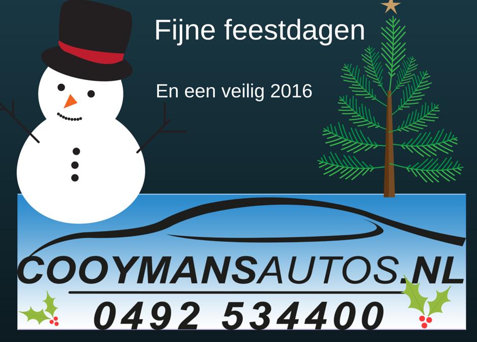 Oudjaarsdag en Nieuwjaarsdag is Cooymans Auto's gesloten