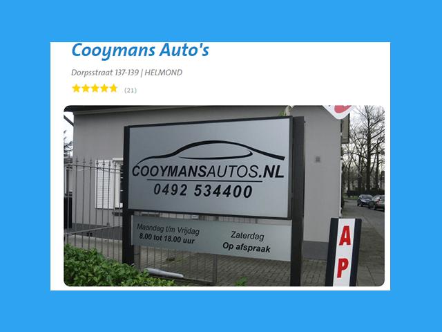 Beoordeel Cooymans Auto's en win je garagerekening terug!